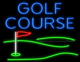 "Golf Course With Red Flag Custom Neon Sign Real Glass Tube Sport Games Dsiplay Club Training Center Advertisement Neon Signs 30""X24"""