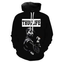 Mens Hip Hop Hoodie Sweatshirt Mens Hoodie For Black 3D Printing Fashion Casual long sleeve Sweater For teenagers Drop Shopping