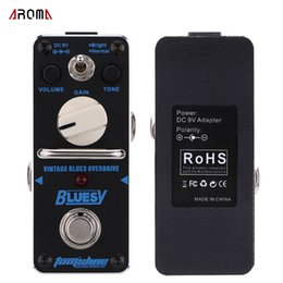 Wholesale New Arrival AROMA ABY Bluesy Vintage Blues Overdrive Mini Single Guitar Effect Pedal with True Bypass Guitarra Effect Pedal