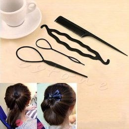 Wholesale 1Set for Fashion Beauty Simple Pattern Twist Comb IN Hair Disk Double Needle