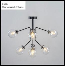 Wholesale AC110V V V V New Nordic Europe America Art Decor Modern living room industry Magin bean DNA ceiling lights glass globe ball ce