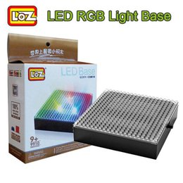 Wholesale LOZ Diamond Building Blocks Baseplate RGB Colorful LED Light Base Display Surrounding Supporting Genuine Stand Plate Board