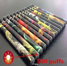 Shisha humo de colores en venta-Colorido 500Puffs ShiSha Pluma Desechables E Cigarrillo Fumar 280mAh cachimba pipa SOMKE Stick Electrónico Cigarrillos Fumar electrónico shisha