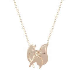 Wholesale 10pcs New Design Cute Fox Baby Necklace Animal in Woodland Pendant Necklace in Gold or Silver Jewelry GIft Idea