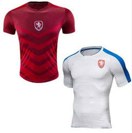 Wholesale New Czech Republic Jersey Czech Mens Soccer Shirts Republic Home Red ROSICKY NEDVED NECID SUCHY BAROS Away White Football Jersey