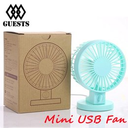 Wholesale Adjustable Speed USB Portable Desk Mini Fan with Switch for Office Use DC V mA Super Mute Cooler High Air Flow High Quality Newest