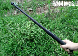 Wholesale Car outdoor self defense whiplash plastic PV three section telescopic guards patrol cool stick self defense equipment