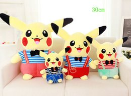 Free Shipping Hot Sale 30cm pikachu Wear condole belt clothing Pocket Monster plush Doll Stuffed Toy The best gift For children