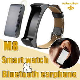 iBand M8 Smart intelligent Wristband & blutooth headset for Android 4.3 & iOS7.0 and above smart phone apple iphone