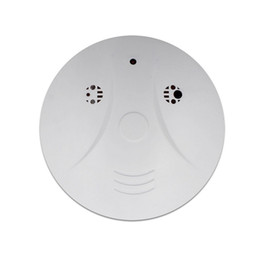 Hidden Surveillance Camera Smoke Detector Model Support Video Recorder DVR Covert Remote Control With 160 Degree View Angle White