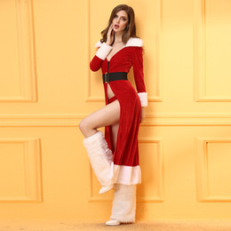 Women's Christmas costume robe suit , Santa Claus stage show costume