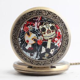 Mujer del reloj del collar en venta-Ancient Nightmare Before Christmas relojes de bolsillo collares tirón locket reloj de cuarzo relojes mujeres mujeres niños regalo de Navidad 230211