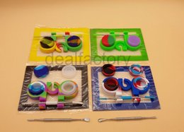 Wholesale Silicone Oil Wax Dab Slicks Tool Kit with inch Mat Pad mL Containers Jars Titanium Dabber Tools For Wax Dabbing Set