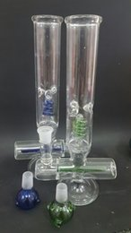 Wholesale Freezable coil system Glass Bongs Glass water Pipes with arms perc and inliner perc bong design with mm