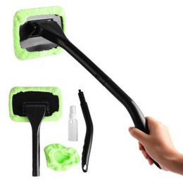 Wholesale High quanlity Car washer Windshield Wonder Cleaning Tool ABS Microfiber Auto Fogging Glass Window Brush Washer