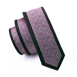 Black Pink Novelty New Style Non-mainstream Men Tie 6cm Widthe Symmetry Thin And Long High Quality Neckties Marrow Slim Tie E-104
