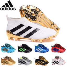 Wholesale Adidas Originals ace purecontrol Shock Blue soccer boots Soccer Shoes Pure Control Football Cleats Soccer Boots FG Football Shoes