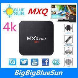 Wholesale MXQ Pro K Android Amlogic S905 Streaming Media Player Quad ARM Cortex A53 CPU GHz XBMC Kodi Box Full Loaded G G