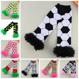 girl animal leg warmers baby ruffle lace sock kids cotton knee high socks children polka dot christmas tight legging football sock wholesale
