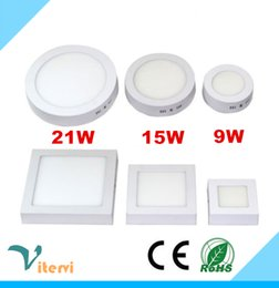 Round Square LED Panel Light 12W 18W 25W AC110-240V led ceiling lgiht indoor sitting room kitchen toilet downlight