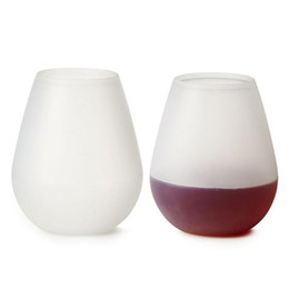 Wholesale Silicone Wine Glasses oz ml Unbreakable Party Camping Picnic RV Yachting Travel wine Cups cup