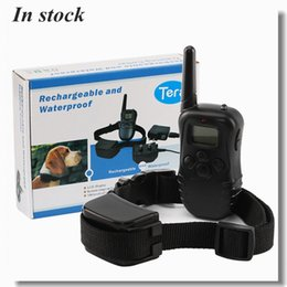 Wholesale Remote Dog Training Collar Rechargeable And Waterproof Vibration Shock Electronic Electric M Level Anti Bark Control via DHL