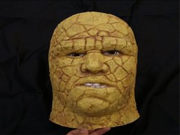 Wholesale Halloween Mask Masquerade for Adult Fashion Thing mask Benjamin Grimm Fantastic Four Film Animation Stone man Mask Carnival Party Cosplay