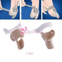 Wholesale 1 Pair Bunion Splint Curved Great Big Toe Straightener Corrector Adjustable Tool CM tool file