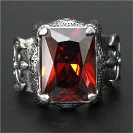 3pcs lot New Design Huge Red Rhine stone Ring 316L Stainless Steel Fashion jewelry Flower Blue Color Clear Stone Ruby Ring