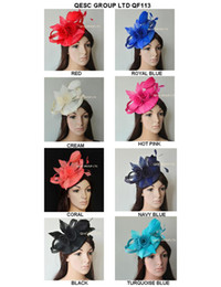 New Arrival.Exclusive design sinamay Fascinator hat with feather flowers&sinamay loops for Melbourne cup,Wedding,Kentucky Derby,church