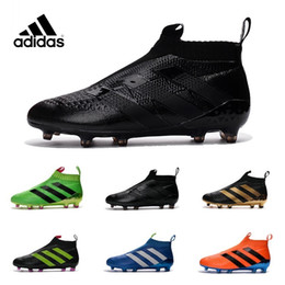 Wholesale Adidas ACE PureControl FG NEW Men s Soccer Shoe boots cheap original Performance Mens ace soccer cleats football shoes