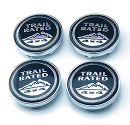 4pcs 60mm Emblem Badge Sticker Wheel Hub Caps Center Cover 4x4 TRAIL RATED for JEEP Cherokee Patriot Wrangler Compass