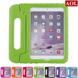 Wholesale Kids Safe Portable Shockproof Protection Case Cover Shell for New iPad mini4 mini EVA Foam Handle Stand