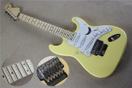 Wholesale high quality cream yellow scalloped maple fingerboard Yngwie Malmsteen Signature stratocaster electric guitar