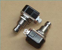 El pie del pedal interruptor de la guitarra en Línea-SPST momentáneo Soft Touch Push Button Stomp Pedal Interruptor de la guitarra eléctrica