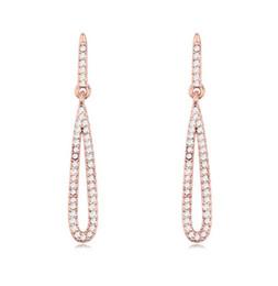 Crystal Earrings Fashion Women Luxury Quality Austrian Crystal 18K Gold Plated Water Drop Style Drop Earrings Jewelry Wholesale TER099
