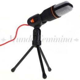 Wholesale Pro Condenser Mic Microphone Sound Podcast Studio Microfone for PC Laptop Skype MSN Karaoke Recording Online Chatting Black