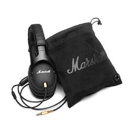 Wholesale Marshall Monitor Headphones Noise Cancelling Headset Deep Bass Studio Rock DJ Hi Fi Guitar Rock headphone Earphone with mic High Quality