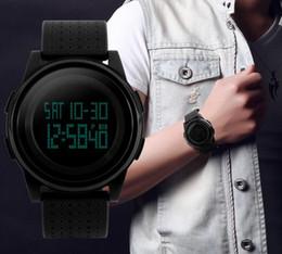 Wholesale Fashion Thin Simple Dial Watch Chrono Alarm 50m Waterproof PU Strap Watches 1206