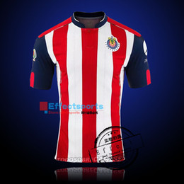 Descuento camisetas de fútbol de color rosa Camiseta de fútbol Tailandia 2016/17 Chivas Guadalajara camiseta de Futbol Camiseta azul de Chivas Away Blue Deportivo A.PULIDO Camisetas de fútbol