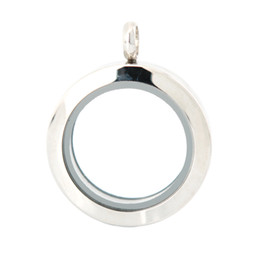 25mm magnet 10pcs plain stainless steel Memory living glass locket pendant , glass locket floating charms for floating charms