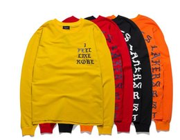 Wholesale New Arrival Swag Men clothing Kanye West I Feel Like Pablo Season HiP hop hoodie sweatershirts red yellow orange black color