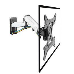 "NB F300 Gas Spring 360 Degree 30-40"" TV Wall Mount LCD Monitor Holder Aluminum Mirror Polish Arm"