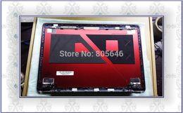 "Original For Lenovo ideapad U410 14"" laptop 3CLZ8LCLV70 red LED Back Cover Lid"