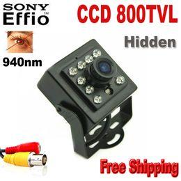 Wholesale Hidden Cameras TVL Night Vision IR nm Sony CCD Security Indoor CCTV Mini Camera Ccd Camera Night Vision Mini Ir Camera