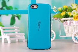 New design Iface Mall Case For Iphone X Cases For Galaxy Note 8 S8 PLUS Shock Proof Hybrid Candy Colors Cases Opp package