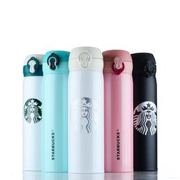 Wholesale SF EXPRESS starbucks vacuum cups ml big capacity stainless steel multicolor vacuum portable travel sports water bottles