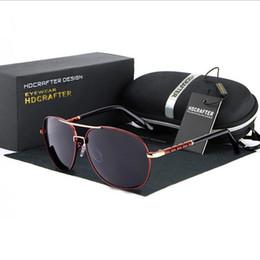 2017 lentes polarizadas Gafas de sol polarizadas de la lente de la marca de fábrica de calidad superior para los vidrios de conducción negros del marco grande de los hombres Gafas de sol del deporte de Oculos De Sol con la caja original