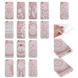 Wholesale For Iphone Plus Plus Flower Henna Paisley Soft TPU Case Mandala Black White Clear Dandelion Sunflower Pineapple Dreamcatcher Cover Skin