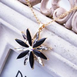 Summer popular crystal flower necklace, elegant necklace, concise classic crystal necklace,korean style crystal necklace GL6014N
